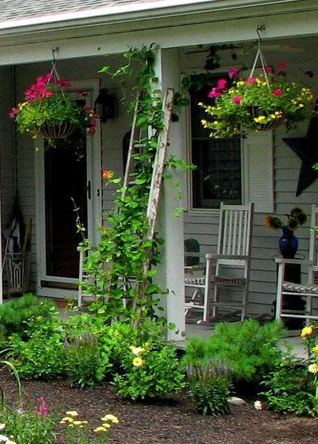 Ladder Trellis Rustic Landscape Boston By Garden