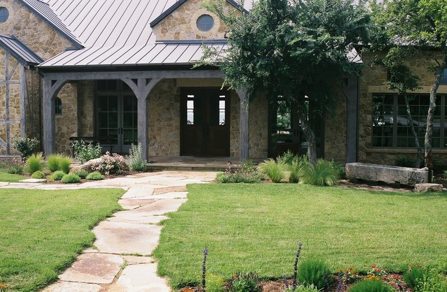 Lake Buchanan Ranch House Rustic Landscape Austin