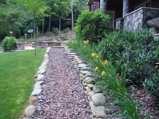 Lake burton mountain home contemporary landscape atlanta by ariam interiors - Mountain garden landscaping ideas ...