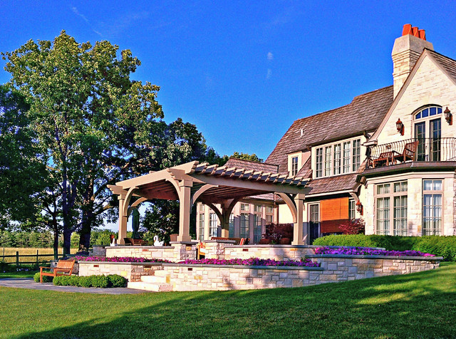 Lake forest residence traditional garden chicago for Houzz landscape architects