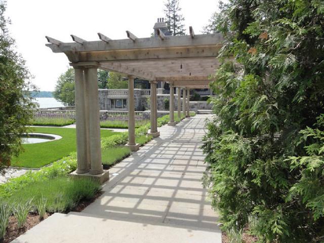 Lake Front Mansion landscape