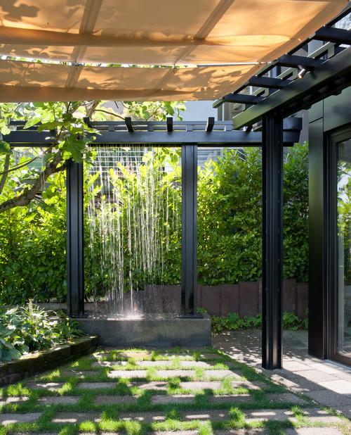 7 modern waterfall designs for garden landscape