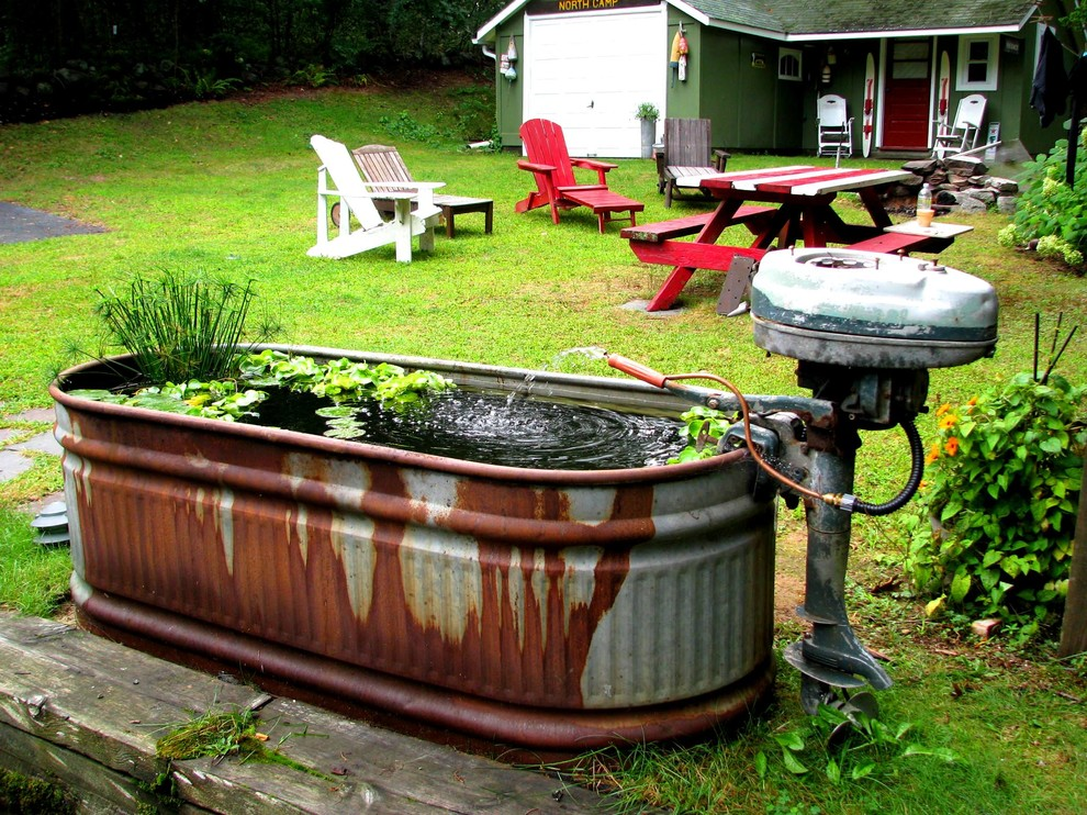 Lake House Water Garden Rustic Landscape Providence By Garden Tech Horticultural Services Llc