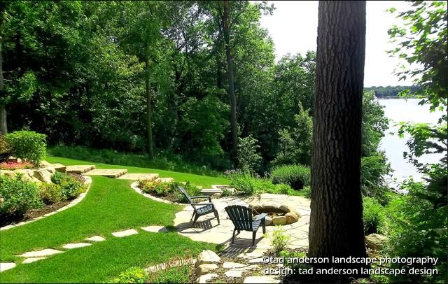 Lake minnetonka landscape for living firepit setting minnesota patio design craftsman