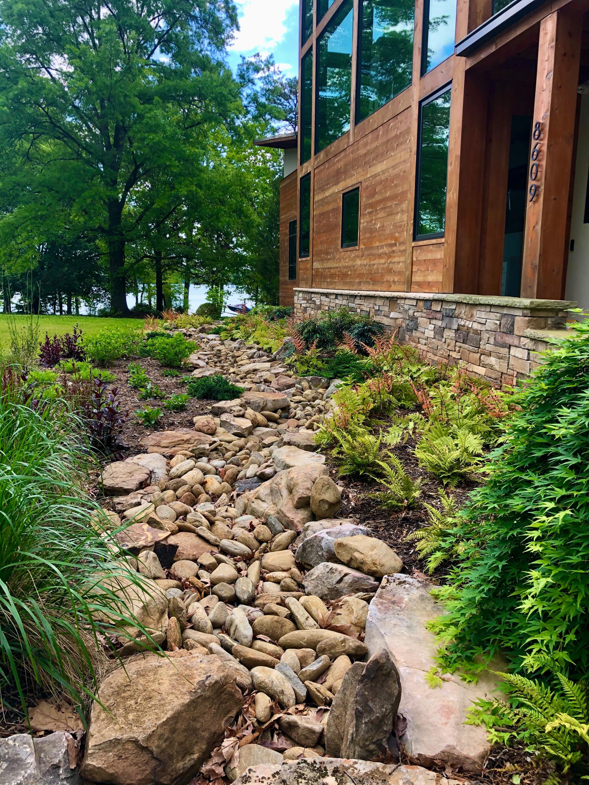Lake-side creek bed