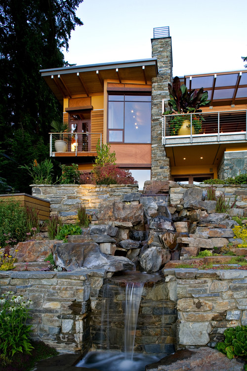 Lake Washington Residence contemporary landscape
