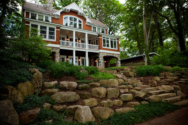 Lakefront cottage traditional landscape other by for Lakefront landscaping photos