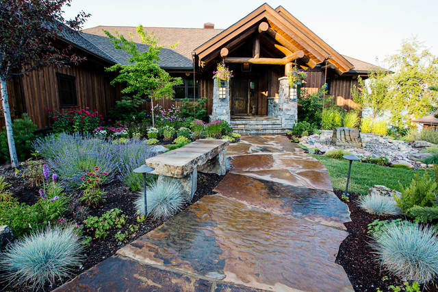 Lakefront living rustic landscape other metro by for Lakefront landscaping photos