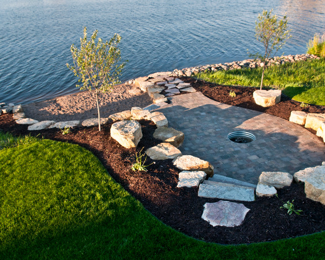 Lakefront - Beach Style - Landscape - Minneapolis - by MT ... on Lakefront Patio Ideas id=90883