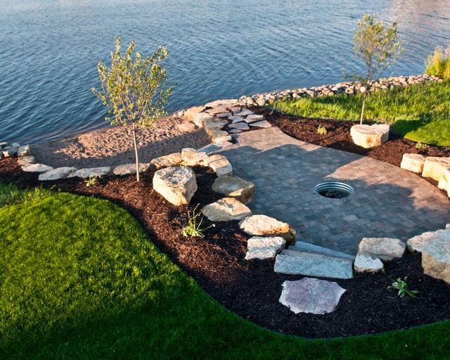 Lakefront - Beach Style - Landscape - minneapolis - by MT ... on Waterfront Backyard Ideas id=94587