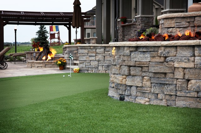 Lakefront Property Traditional Landscape Omaha By