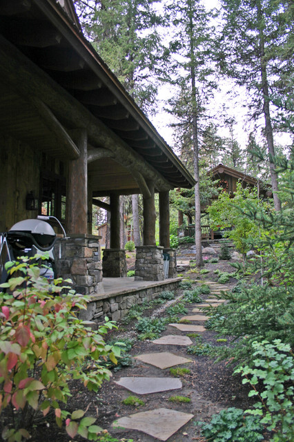 Lakeside Cabin Rustic Landscape Boise By Mccall