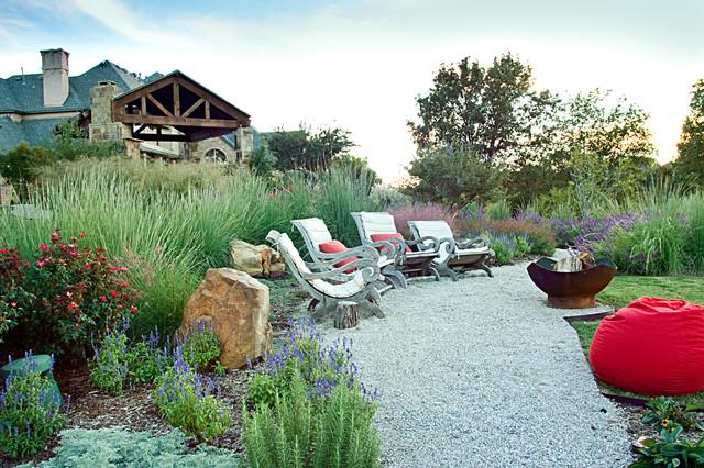 Lakeside Garden - Custom Landscaping - Highland Village, TX rustic-landscape
