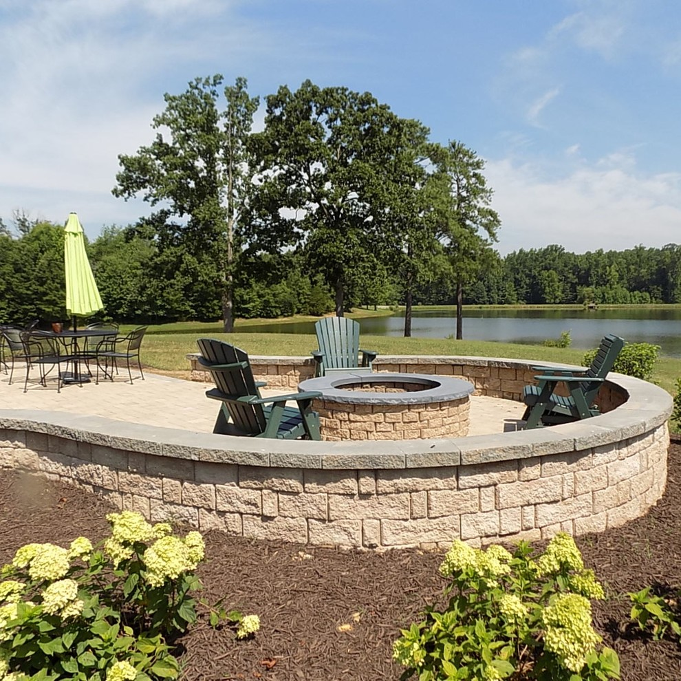 Lakeside Patio with Fire Feature