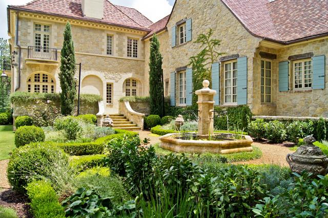 Inspiration For A Traditional Backyard Gravel Formal Garden In Atlanta.