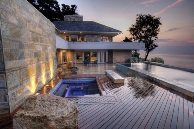 Landscape architect beach house ny landscape custom built for Beach house plans with decks
