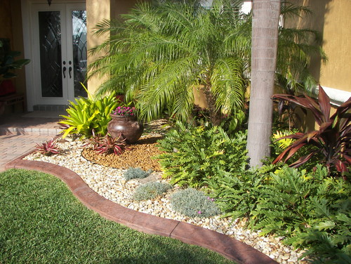 Tropical Zen Garden Design Photograph | Landscape Design Det