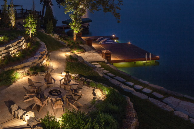 Landscape Lighting Lake House 2 traditional-landscape & Landscape Lighting: Lake House 2 azcodes.com