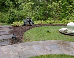 Landscape, Pool, & Sculpture Garden traditional-landscape