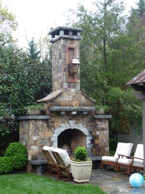 Outdoor Fireplace landscape