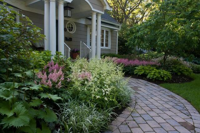 Landscaped Brick Walkway And Front Door Entrances Traditional Landscape