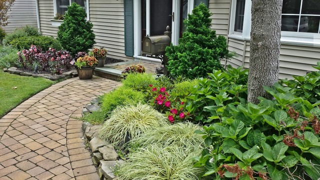 Landscaping Entryways Long Island Ny Traditional Landscape