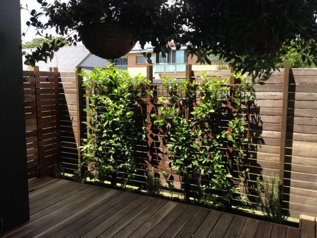 Laser cut metal gates and screens industrial landscape for Garden screening ideas