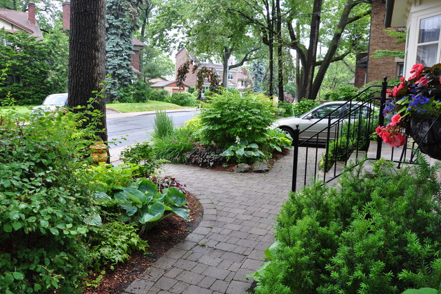 Lawn-less in Toronto traditional-landscape