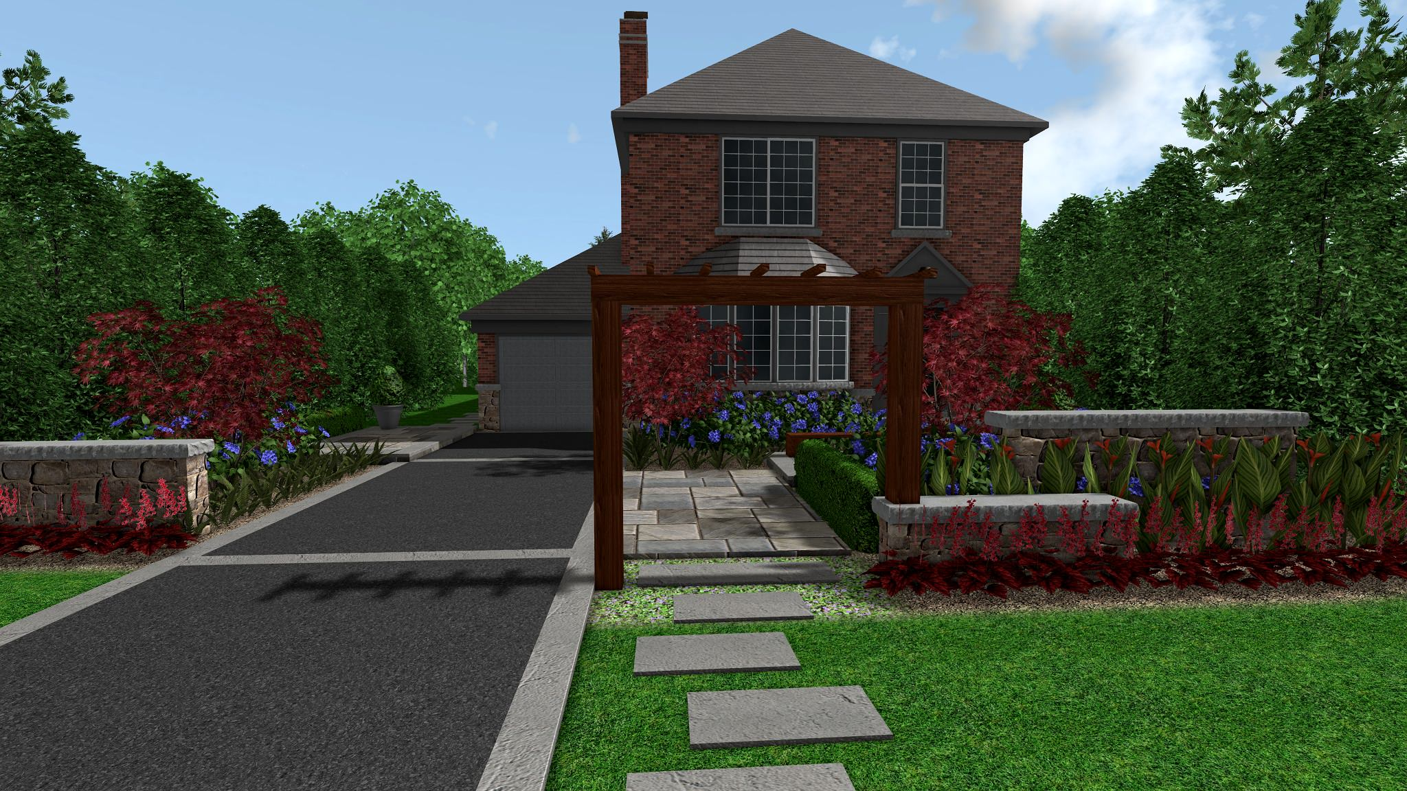Leaside Eclectic Modern Front Yard