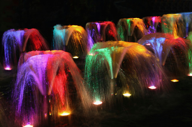 led color changing fountain lighting contemporary