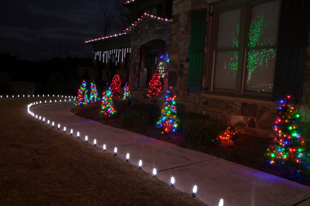 Bathroom showrooms in atlanta - Led Outdoor Christmas Lighting Traditional Landscape
