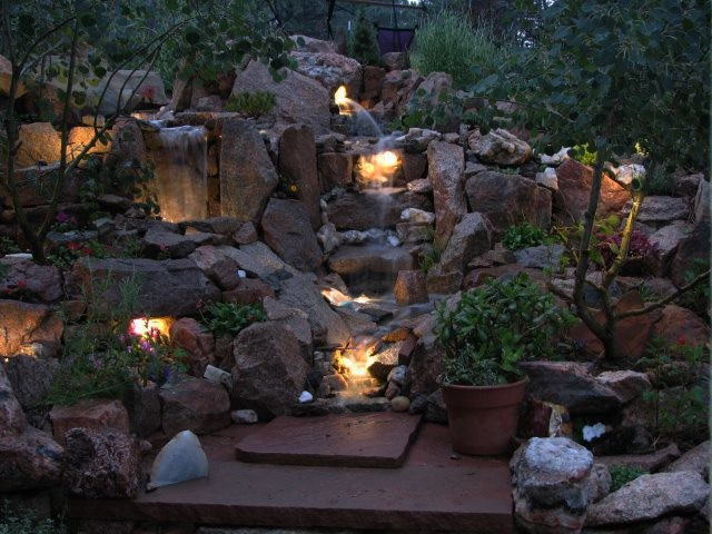 Led waterfall accent lighting traditional landscape st louis led waterfall accent lighting traditional landscape aloadofball Choice Image