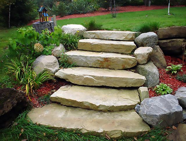 Ledge Sandstone Steps Natural Stone Traditional