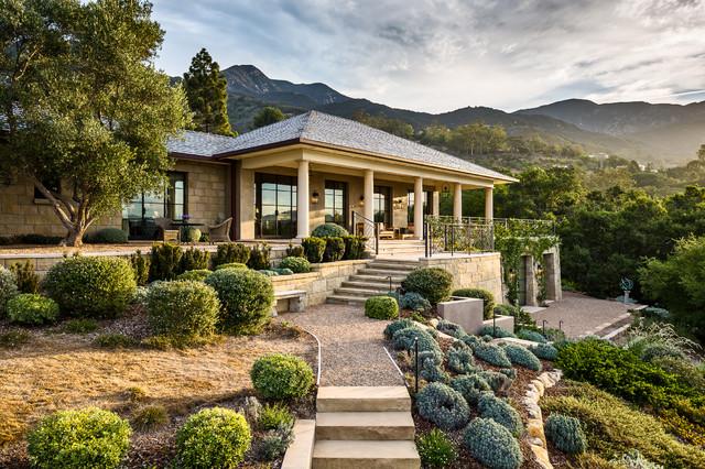 Lilac Drive Residence Mediterranean Landscape Santa