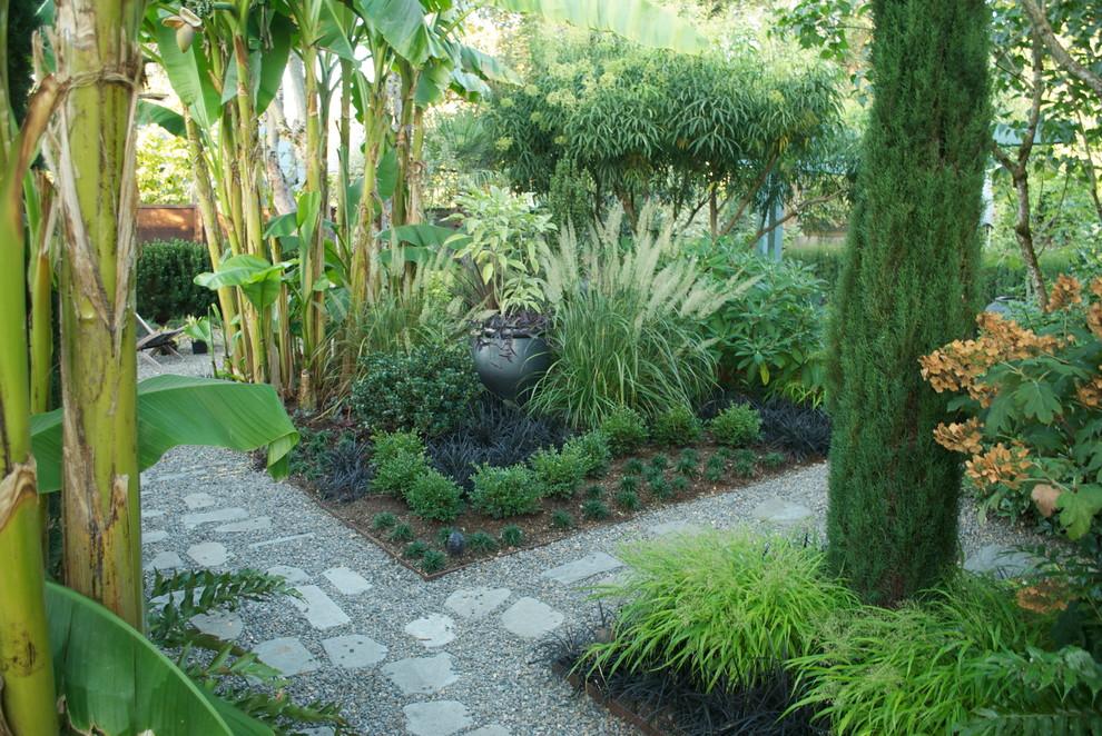 Photo of a modern backyard landscaping in Portland.