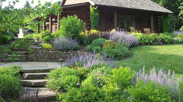 Landscaping Pictures For Log Homes : Log cabin retreat traditional landscape philadelphia