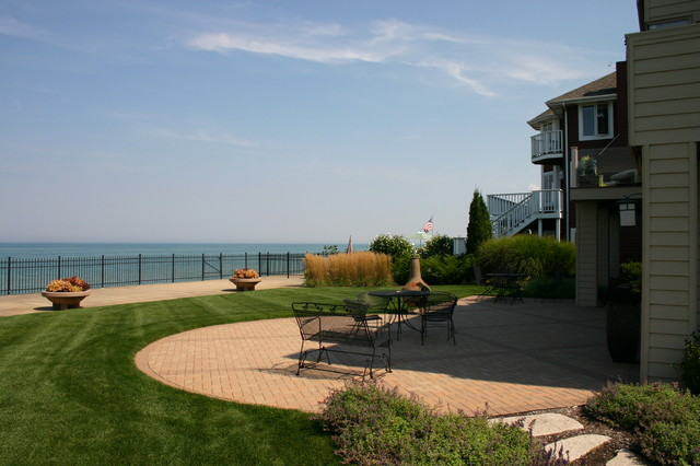 Long Beach Indiana Lakefront Home contemporary-landscape