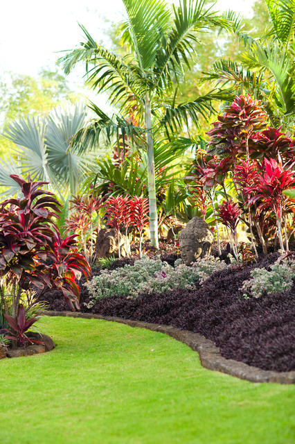 Lotus ridge tropical landscape hawaii by for Tropical landscape