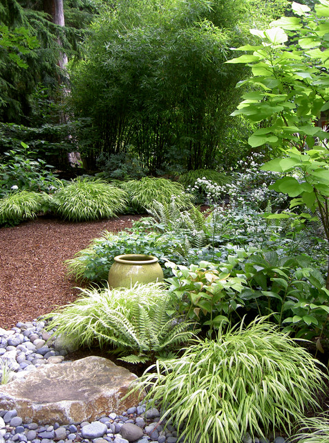 Lytle Road, Bainbridge Island   Shaded Creek Contemporary Landscape