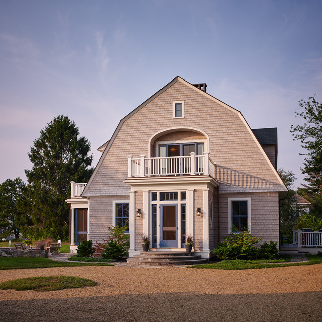 Maine Coast Home Craftsman Exterior By Penelope