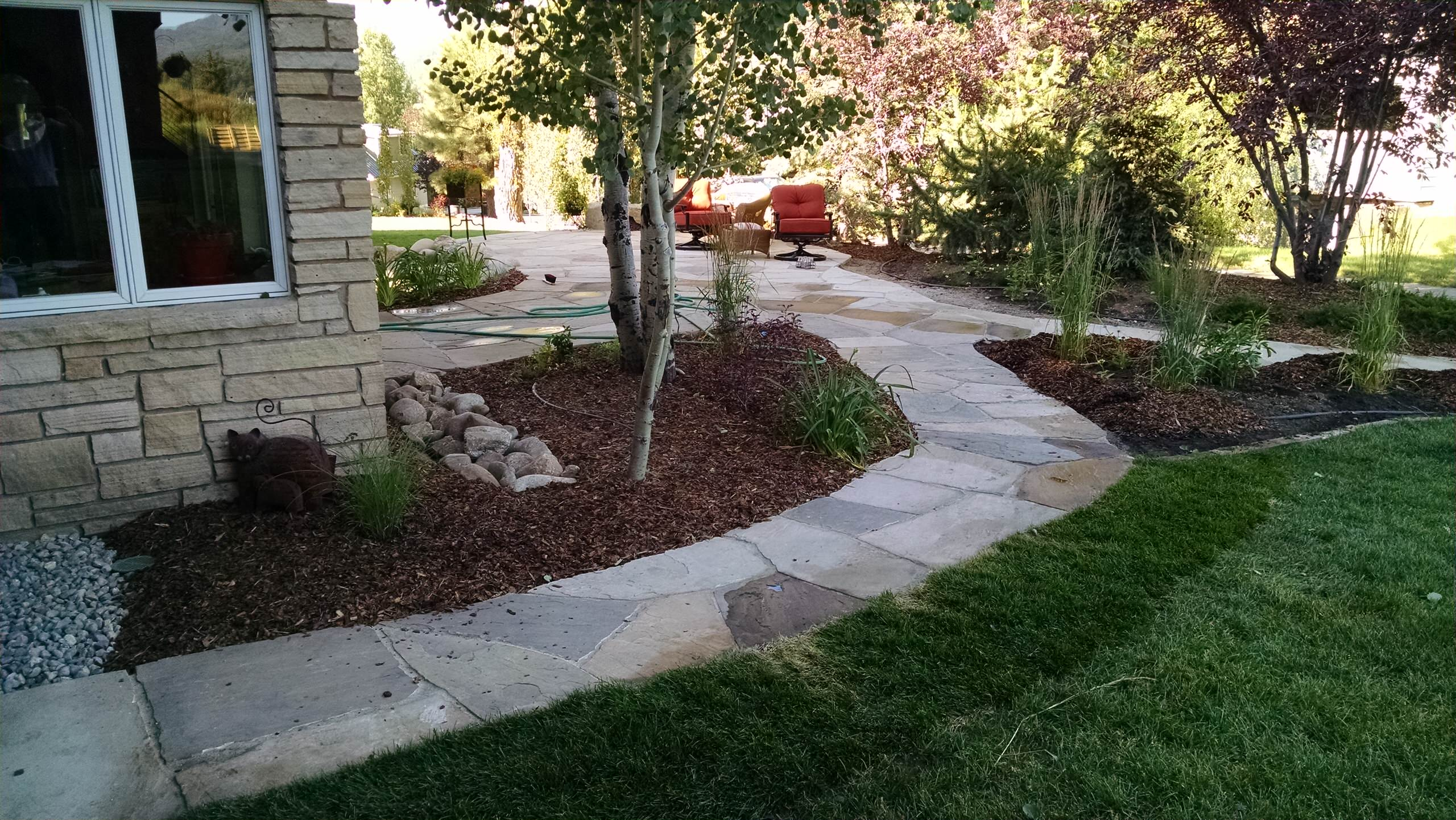 Major redo of a landscape for a quaint home in Steamboat