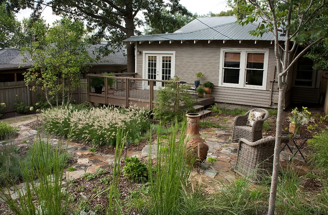 Major renovation for a craftsman style forest park for Prairie style garden design
