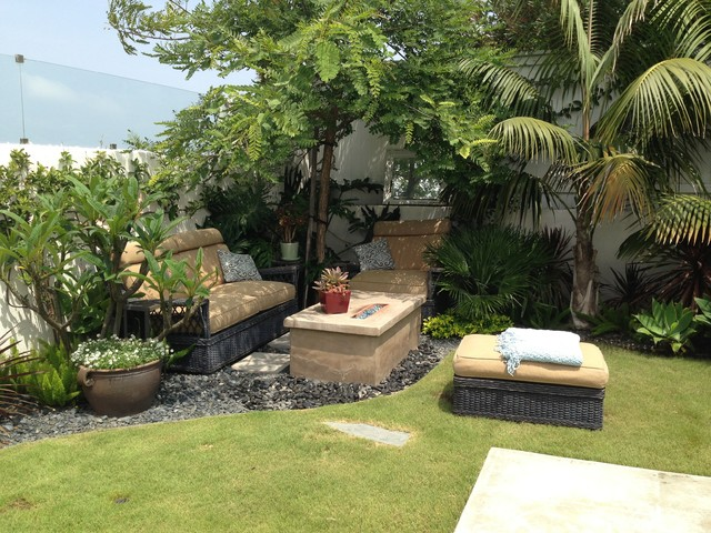 Manhattan Beach, Ca West Indies Bungalow - Tropical - Garden - Los