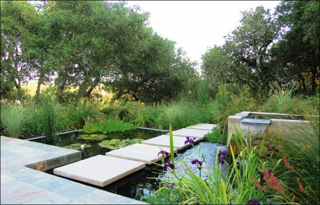 Marin Water Feature Modern Garden San Francisco By Huettl