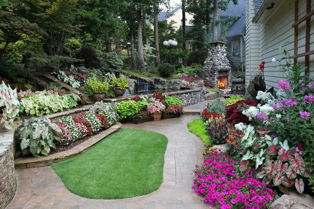 Mark 39 s backyard for Traditional landscape