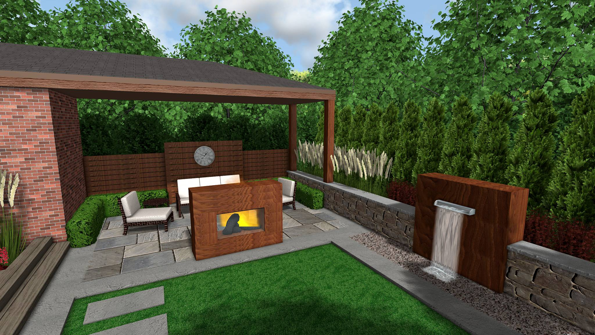 Markham Eclectic Modern Backyard