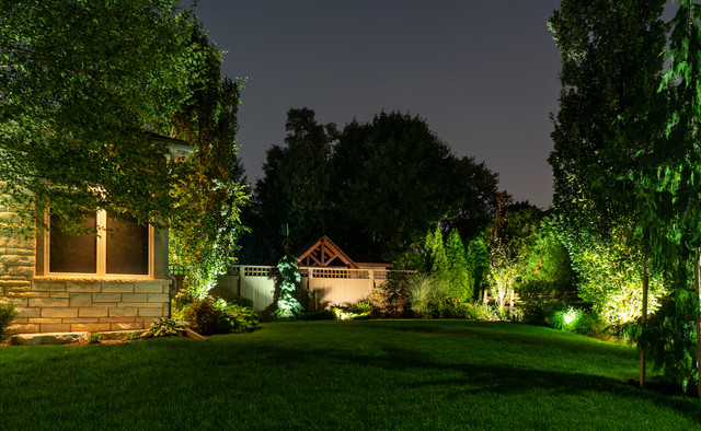 Markham Outdoor Lighting Redesign View After Conscape