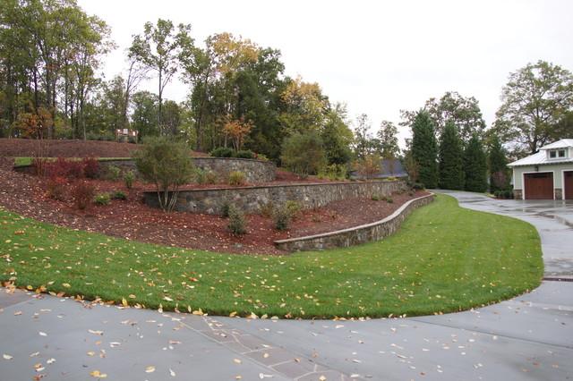 Massive Retaining Walls contemporary-landscape