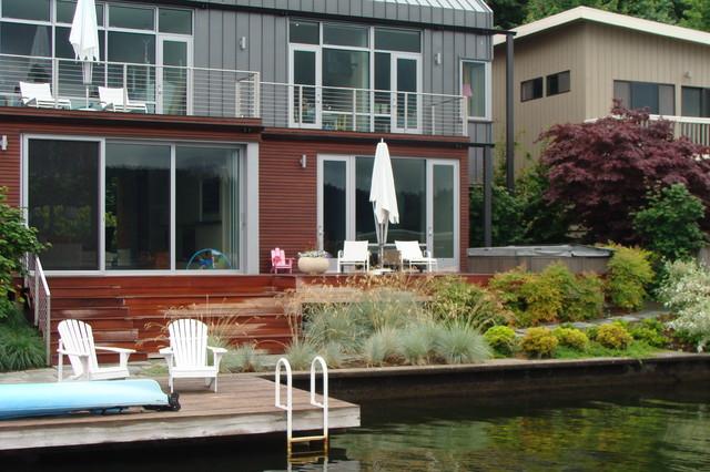 Matthews Beach Garden modern-exterior
