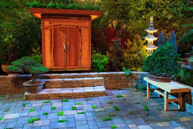 Meditation garden and outdor room/living asian-landscape